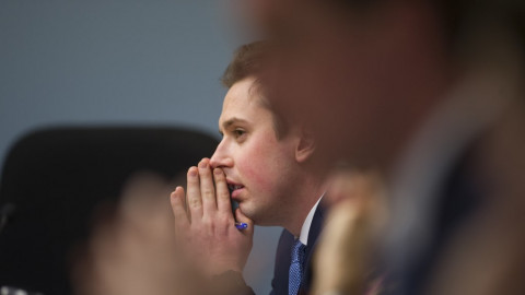 ACT MLA Michael Pettersson at the first day of the inquiry on Friday. Photo: Dion Georgopoulos