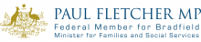 Commonwealth crest and Paul Fletcher MP (name)